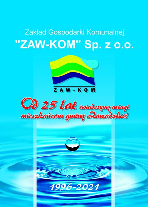okłada folderu wydanego na25 lecie istnienia spółki Zaw-Kom